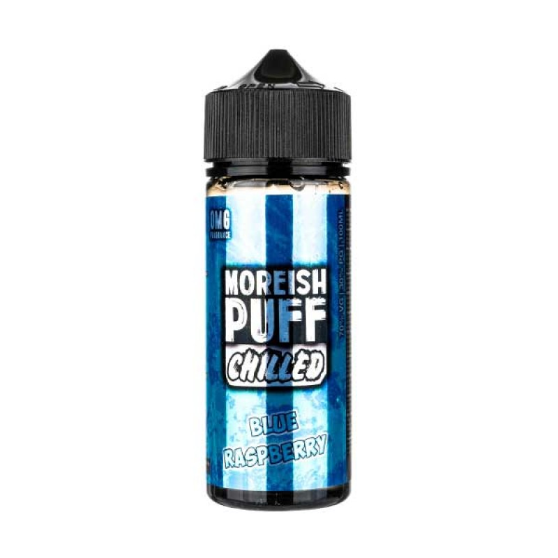Chilled Blue Raspberry Shortfill E-Liquid by Moreish Puff