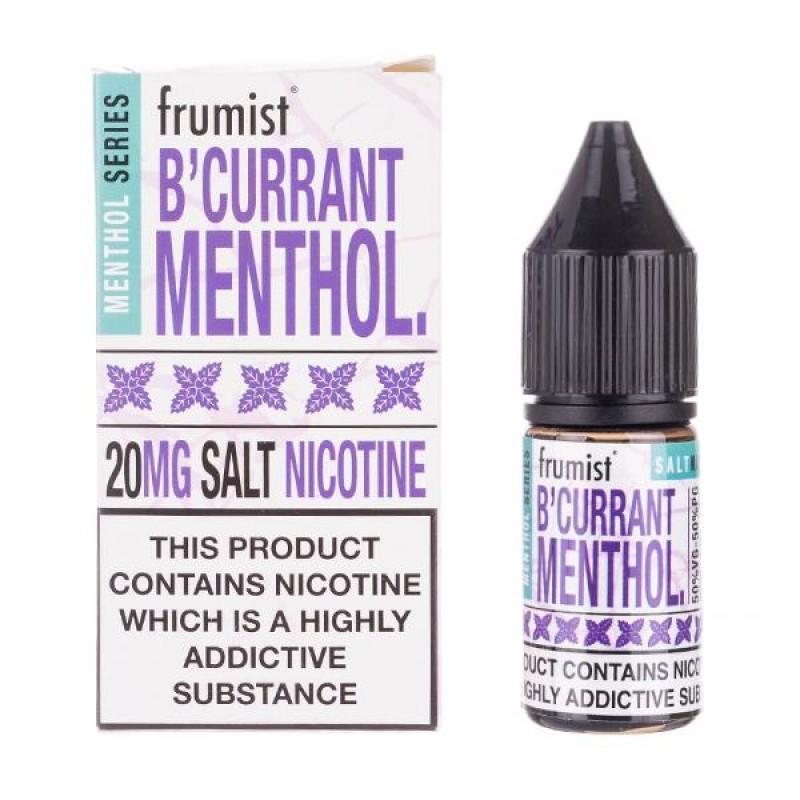 Blackcurrant Menthol Nic Salt E-Liquid by Frumist