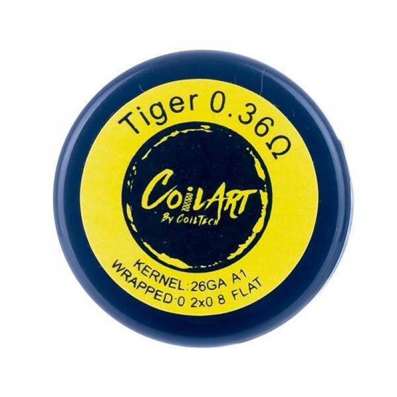 0.36 Ohm Premade Tiger Vape Coils by CoilArt