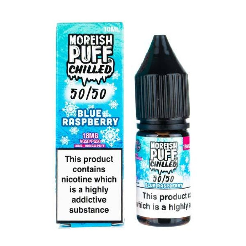 Blue Raspberry Chilled 50/50 E-Liquid by Moreish P...